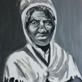 "Sojourner Truth, acrylic portrait on 8x10"" canvas."