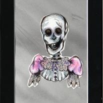 """Dandy Skeleton"" 5x7"""