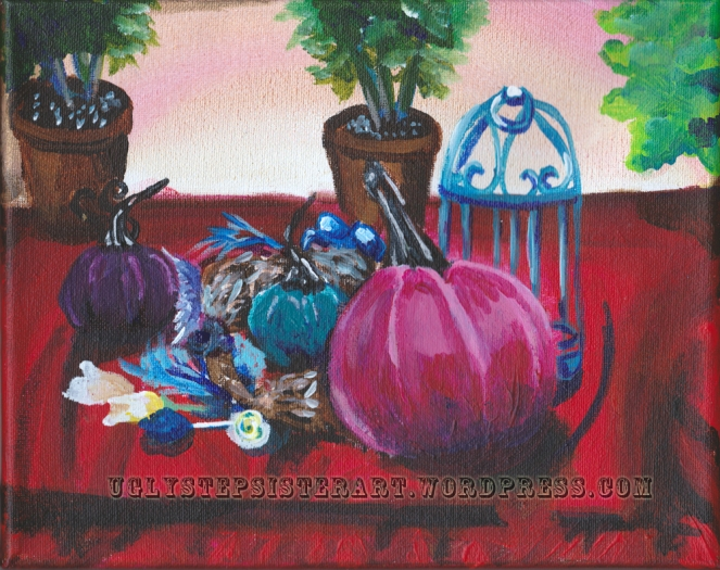 pink pumpkin still life watermarked